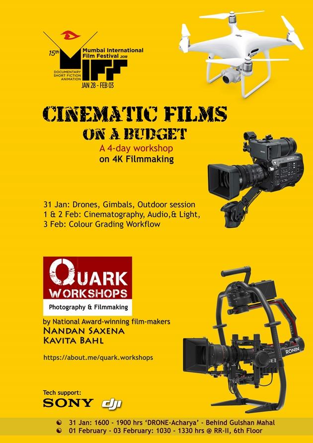 Miff 2018 Quark Workshops On Film Making Dwarka Parichay